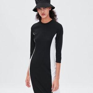 d9832eaeb8b Women s Black And White Zara Color Block Dress on Poshmark